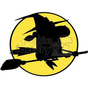 3119-Halloween-Witch-Black-Silhouette clipart. Royalty-free image # 380664