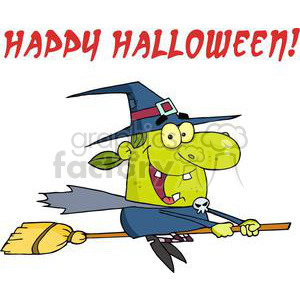 3126-Happy-Halloween-Witch clipart. Royalty-free image # 380724
