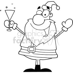 3233-santa-claus-drinking-champagne