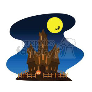 haunted house clipart. Commercial use image # 380804