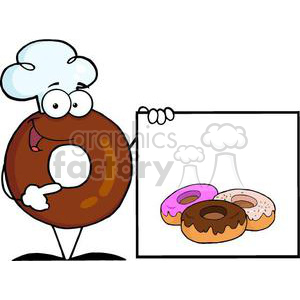 cartoon funny Holidays vector doughnut doughnuts breakfast dessert
