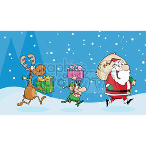 3338-Christmas-Night clipart. Royalty-free image # 380835