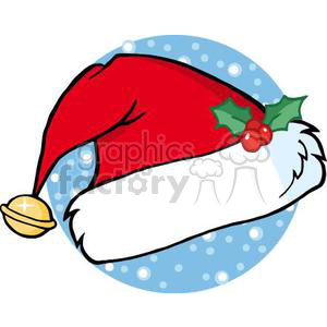3349-Santas-Hat clipart. Commercial use image # 380865