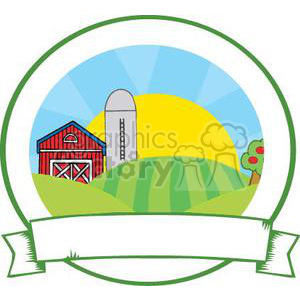 family farm sign clipart. Royalty-free image # 380870