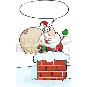 3399-Santa-Claus-In-Chimney clipart. Royalty-free image # 380910