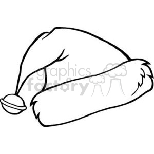 3346-Outlined-Santas-Hat clipart. Commercial use image # 380955