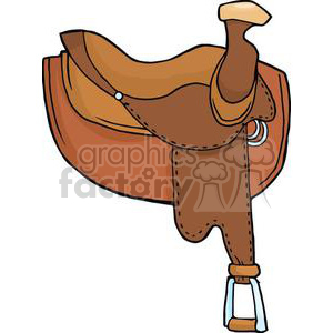 cartoon horse saddle clipart. Royalty-free image # 380970