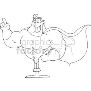 3410-Super-Hero clipart. Royalty-free image # 380980
