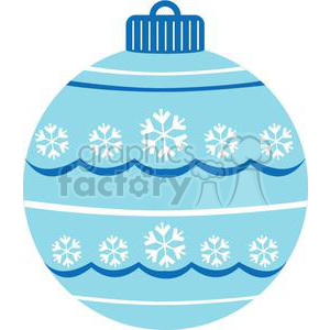 blue Christmas ornament with snowflakes clipart. Royalty-free image # 381035