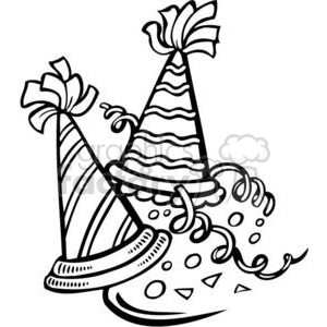 New Years Eve hats clipart. Commercial use image # 381099