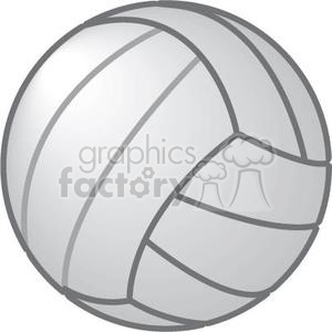 white volleyball clipart. Royalty-free image # 381189