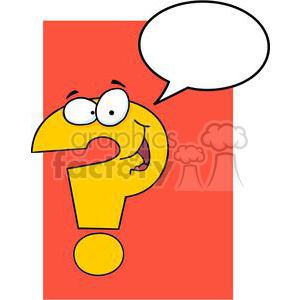 3628-Question-Mark-Cartoon-Character clipart. Commercial use image # 381221