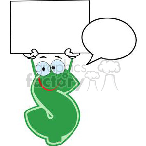 3638-Green-Dollar-Cartoon-Character clipart. Commercial use image # 381231