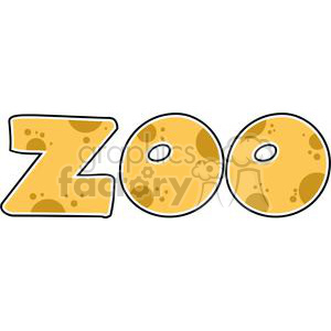 Cartoon-ZOO-Text clipart. Commercial use image # 381236