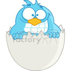 Happy-Blue-Bird clipart. Royalty-free image # 381251