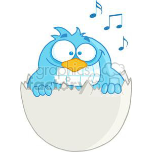 3643-Happy-Blue-Bird clipart. Commercial use image # 381256