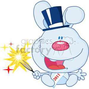 New-Blue-Year-Baby-Rabbit clipart. Royalty-free image # 381281
