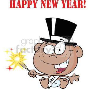 3738-New-Year-Baby-Cartoon-Callendar clipart. Commercial use image # 381301