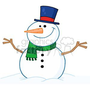 Friendly-Snowman clipart. Commercial use image # 381326