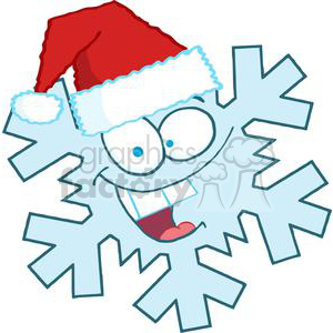 cartoon funny Christmas Xmas Holidays vector illustrations Santa Claus snowflake snowflakes