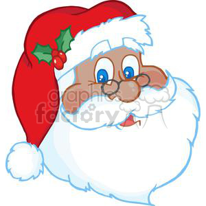 Classic Santa Claus Face clipart. Royalty-free image # 381356