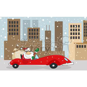 3854-Santa-Claus-Is-Coming-To-Town clipart. Royalty-free image # 381386