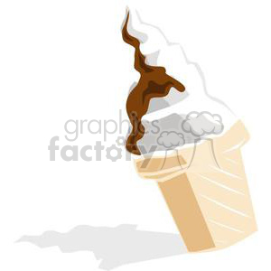cartoon ice cream cone clipart. Royalty-free image # 140819