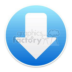 blue download circle button clipart. Royalty-free image # 381606