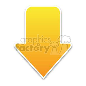 yellow download arrow clipart. Royalty-free image # 381611