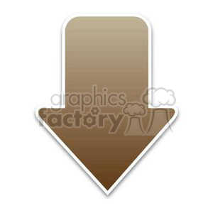 brown download arrow clipart. Royalty-free image # 381621