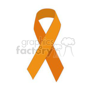 orange support ribbon clipart. Royalty-free image # 381641