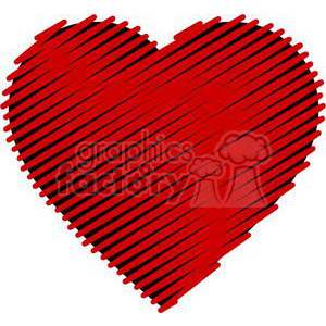 scribbled love clipart. Royalty-free image # 381671