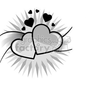 two hearts clipart. Royalty-free image # 381681