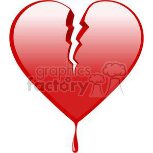 broken and bleeding heart clipart. Commercial use image # 381686