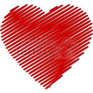 scribbled heart clipart. Royalty-free image # 381696