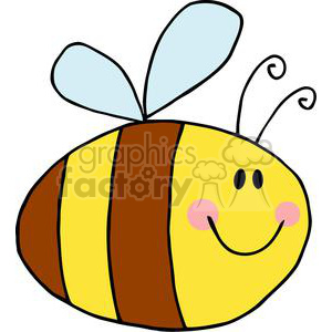 4117-Fflying-Bee-Cartoon-Character clipart. Royalty-free image # 381953