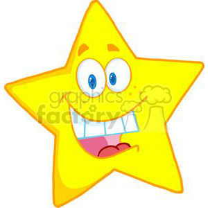 4077-Happy-Star-Mascot-Cartoon-Character clipart. Royalty-free icon # 381958