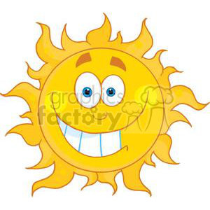 smiling sun cartoon clipart. Royalty-free image # 381993