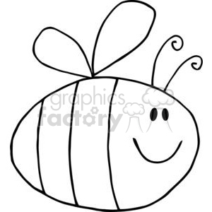 Flying Bee Cartoon Character clipart. Royalty-free image # 382013