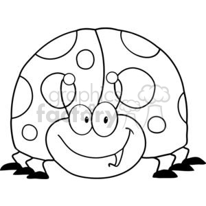 4136-LadyBird-Cartoon-Character clipart. Commercial use image # 382058