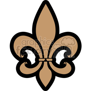 brown Fleur De Lis clipart. Commercial use image # 384775