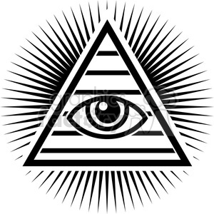 all seeing Illuminati eye pyramid clipart. Commercial use image # 384815