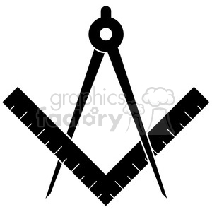 compass and ruler clipart. Royalty-free image # 384865