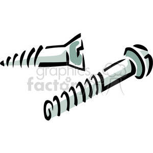 vector tools hardware cartoon screw bolt