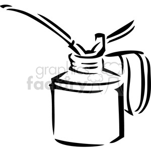 black and white oil can clipart. Royalty-free image # 384937