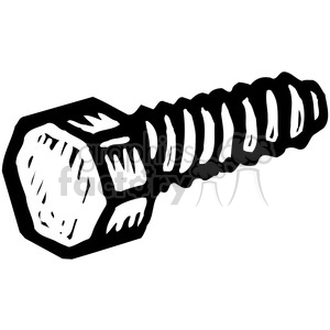 vector tools hardware black white cartoon bolt