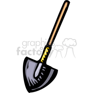 dirt shovel clipart. Royalty-free image # 384967