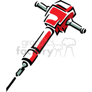 red jackhammer clipart. Royalty-free image # 385037