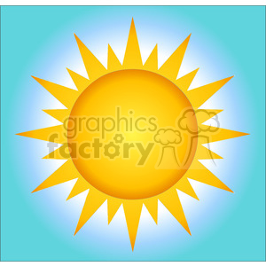 128812 RF Clipart Illustration Summer Hot Sun With Background clipart. Royalty-free image # 385107