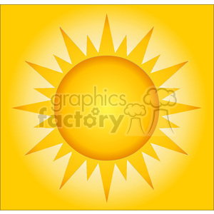 12885 RF Clipart Illustration Summer Hot Sun With Background clipart. Commercial use image # 385127